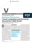 Economic and Business Dimensions Cloud Computing and Electricity: Beyond the Utility Model