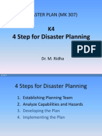 K4-MK307 4steps Establishing Disaster Plan