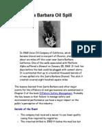 The Santa Barbara Oil Spill