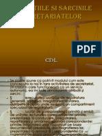 Atributiile Si Sarcinile Secretariatelor