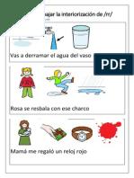 Frases Para Interiorizar El Fonema Rr Con Pictos