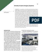 Development of Minimally Invasive Surgery Systems