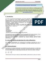Vitesse et Propriétés Petrophysiques (propriétés mécaniques des roches)