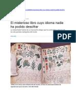 El Misterioso Libro Cuyo Idioma Nadie Ha Podido Descifrar