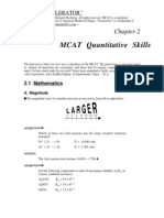 MCAT Math PortionMCAT