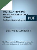 Politicas y Reformas Educacionales en Chile Siglo XX