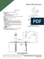 Moen Faucett 7570W ProductSpec