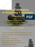 Integrity Managment and Cultural Due Diligence Ppt