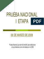 Prueba Nacional i Etapa