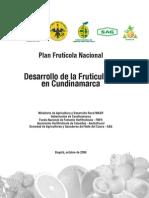 Desarrollo de La Fruticultura en Cundinamarca