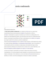 Fisica de Materiales, Materia Condensada Cinetica Quimica, Etc.