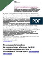 Mononucleosis Infeciosa y El Sfc