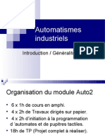 Auto2 - Seance 1 - Automatismes Introduction Generalites