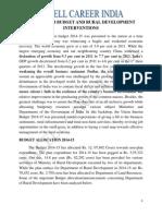 The Interim Budget and Rural Development Interventions (1)