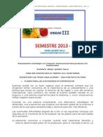 Unidad III - Exportacion No Tradicional - Aqt - Unasam Barranca - Planeamiento Estratégico en Comercio Internacional