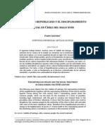El Discurso Republicano y El Disciplinamiento Social en Chile Del Siglo XVIII (Acevedo, F)