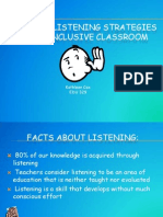 teaching listening strategies in the inclusive classroom
