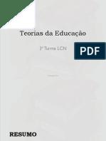 Teorias Da Educação