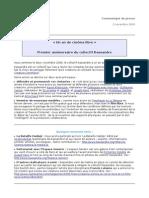 Kassandre Communique 2nov2009