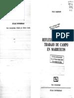 UNFV ANTROPOLOGIA  Rabinow, Paul - Reflexiones Sobre Un Trabajo de Campo en Marruecos.pdf