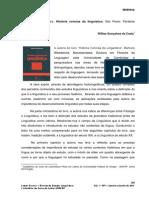 Resenha Do Livro História Concisa Da Linguística Barbara Weedood 5º Ed