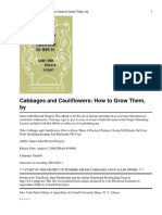 Gardening - Cabbages and Cauliflowers How to Grow Them - James John Howard Gregory