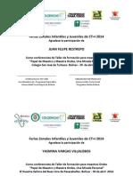 Certificacion Talleristas Feria Zonales