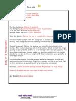 Sample Letter 3