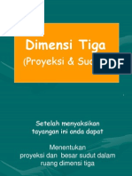 Dimensi Tiga Proyeksi Sudut