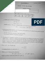 Parciales de Algebra