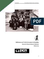 Kusen 2009-Reflexions Sur l'Eveil Et La Nature de Bouddha