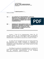 Memorandum Circular No. 1 From OMB