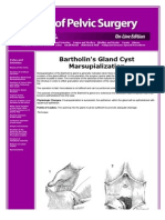 Bartholin's Gland Cyst Marsupialization