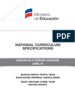 Curriculum Specifications EFL SPECS Level A1
