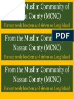 From the Muslim Community of Nassau County