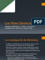 Los Roles Gerenciales de Mintzberg