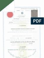 Prashanth Msc Certificate
