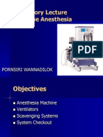 Anesthetic Machine for Student