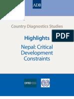 Highlights Nepal Critical Development Constraints