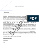 SAMPLE Letter of Intent 1.11.11