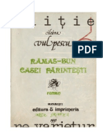 Ileana Vulpescu - Ramas-bun Casei Parintesti (1975)