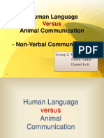 Human Language vs Animal Communication(Group 2)
