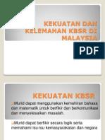 Kekuatan Dan Kelemahan Kbsr Di Malaysia