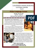Pomo Language Forum at CIMCC!