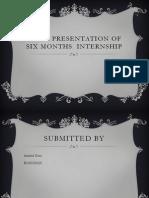Final Presentation of Six Months Internship
