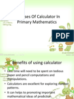 The Uses of Calculator in Primary Mathematics