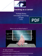 Hacking as a Career