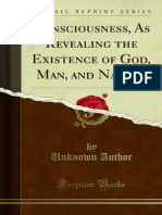 Consciousness as Revealing the Existence of God Man and Nature