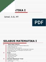 Matematika i Kuliah Ke-1