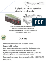 Seismic rock physics of steam injection in bituminous oil sands